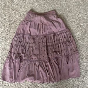 Genuine suede lilac midi skirt from Anthropology